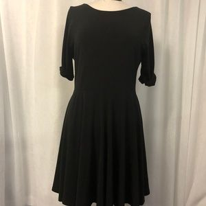 Express Women's Dress Black Fit and Flare Size L